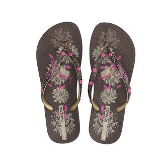 Klapki japonki Ipanema 80631 brown/gold/pink