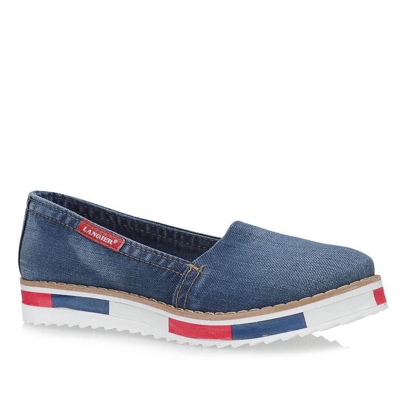 03ccfc4415732 Półbuty Lanqier 40C210 jeans 15634 | Sklep Obuwie-Lizuraj.pl