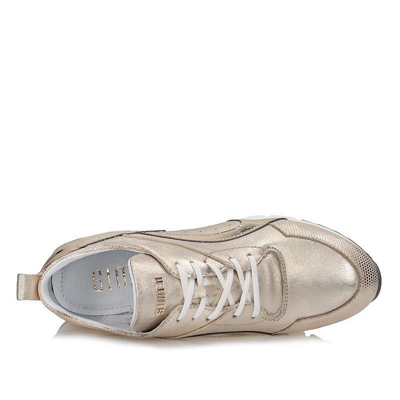 Półbuty Sneakersy Simen 1527 A złoto