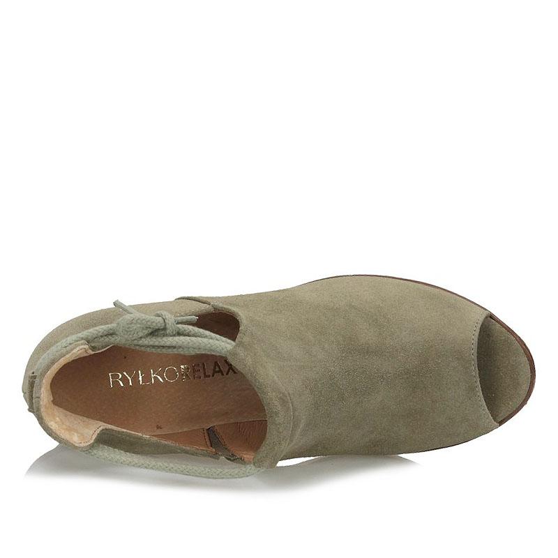 fd748853 Półbuty sandały Peep Toe Ryłko 6HL07 oliwka 15336 | Sklep Obuwie ...