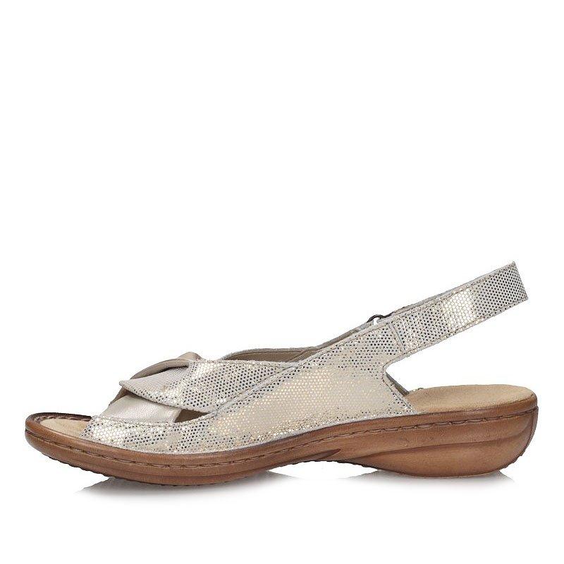 Sandały Rieker 60832 90 Złote   Sandały