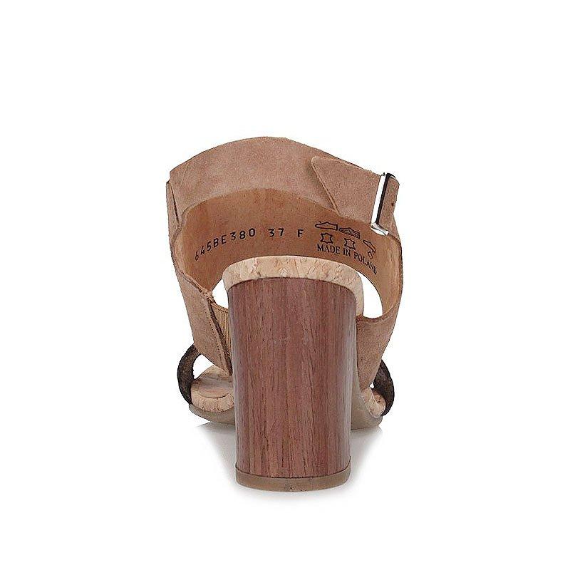 Sandały Ryłko 9HFD5 Beżowy Jasny Brąz