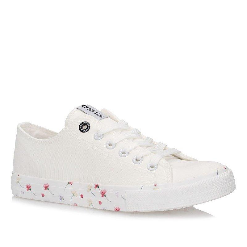 418834a85c Tenisówki trampki Big Star DD274708 białe kwiaty 17943