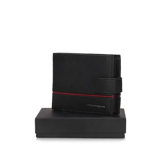 Portfel Ellini TMM-80R-035 black/red RFID